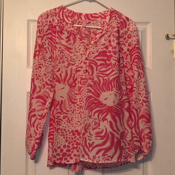 Lilly Pulitzer Tops - NWOT Lilly Pulitzer Blouse Women's Size Medium